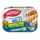 Saupiquet filet de sardines grillés sans aretes trait d'huile d'olive 70g