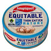 Saupiquet thon entier nature équitable MSC 112g