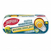 Saupiquet  filets de maquereaux moutarde douce bio 120g