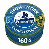 Petit Navire thon entier huile olive MSC 160g