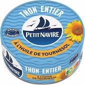 Petit Navire thon entier à l'huile de tournesol 1/5 160g