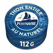 Petit navIre thon entier naturel albacore msc 112g