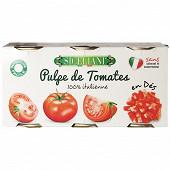 Siceliani pulpe de tomates lot de 3x400g