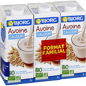 Bjorg boisson avoine format familial 3x1l
