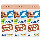 Bjorg lait d'amande chocolat 3x20cl