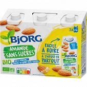 Bjorg lait d'amande sans sucres 3x25cl 750ml