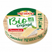 Président camembert bio engagé 21%mg 250g