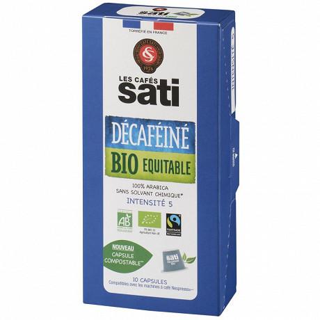Sati cafe capsules décaféiné bio max havellar  x10 55g