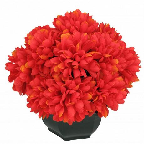 Chrysantheme artificielle x 16 en pot 34x34x42cm
