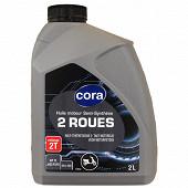 Cora huile moteur 2 roues 2T semi-synthèse 2L