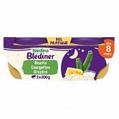 Blédina blédîner risotto courgettes et gruyère fondu 2 x 200g dès 8 mois