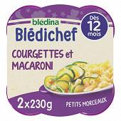 Bledina bledichef fondue de courgettes et macaroni dès 12 mois 2x230g