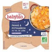 Babybio Bonne Nuit gratin panais potimarron assiette sans gluten dès 15 mois 260g
