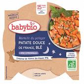 Babybio bonne nuit patates douces blé dès 15 mois 260g
