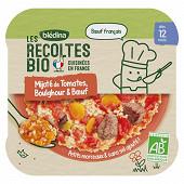 Bledina les récoltes bio mijoté de tomates boulghour boeuf dès 12 mois 230g