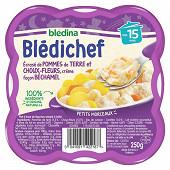 Bledina blédichef écrasé de pomme de terre choux fleurs crème béchamel dès 15 mois 250g