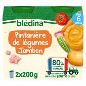 Bledina pots printanière de légumes jambon 2x200g