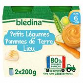 Bledina pots petits légumes pommes de terres colin (lieu) 2x200g