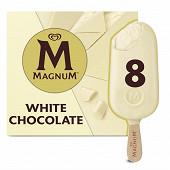 Magnum batonnets chocolat blanc 8 x 110 ml - 632g