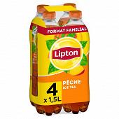 Lipton ice tea pêche format familial 4x1,5l