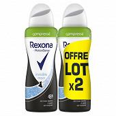 Rexona déodorant compressé femme invisible aqua 2x100ml