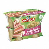 Andros dessert de rhubarbe avec morceaux 4x100g