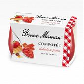 Bonne Maman compotée rhubarbe fraise miel 2x130g