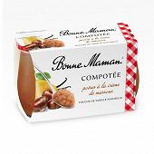 Bonne Maman compotée poire crème de marron 2x130g