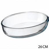 Plat four en verre ovale 26 x 18 cm