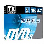 Tx Pack de 5 dvd+r 16 x en boitier fin DVDTX47S5PR16X