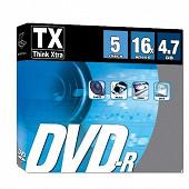 Tx Pack de 5 dvd r16x en boitier fin DVDTX47S5-R16X