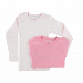 Influx tee shirt uni manches longues et rayé lot de 2 ROSE 8ANS
