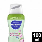 Monsavon déodorant femme fleur lotus 100ml compressé