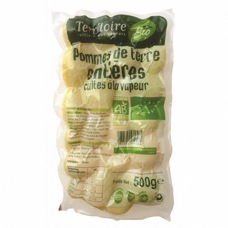 Terr'loire pommes de terre entières bio cuites à la vapeur 500g