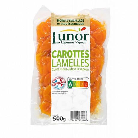 Lunor carottes lamelles 500g
