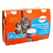 Cora boisson lactée pour chats 3x200ml