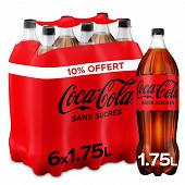 Coca-Cola zéro 10% offert pet 6x1.75l