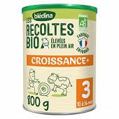 Bledina les récoltes bio lait poudre croissance de 10 à 36 mois 800g