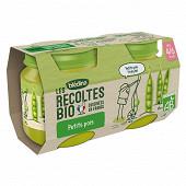 Blédina les récoltes bio petits pois dès 4 mois 2x130g