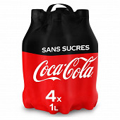 Coca-cola zero pet 1lx4