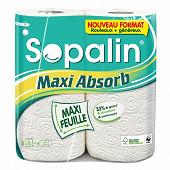 Sopalin essuie-tout maxi absorbant 2=4 rouelaux