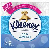 Kleenex papier toilette soin complet x9