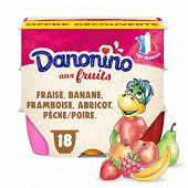 Danonino aux fruits panaché 18x50g offre découverte