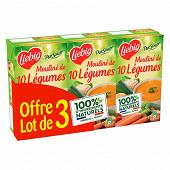 Liebig pursoup mouliné de 10 légumes lot de 3x1l