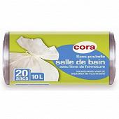 Cora sacs poubelle x20 salle de bain 10l