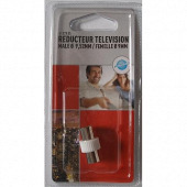 Prodelect reducteur tv male 9.52mm/femelle 9mm