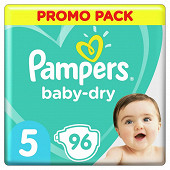 Pampers baby dry couches lot promotionnel 96ct