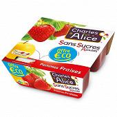 Charles & Alice pomme fraise 4x100g offre eco