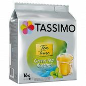 Tassimo twinings thé vert menthe x16 40g