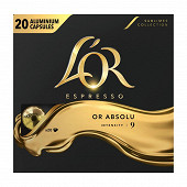 L'or café capsules type nespresso espresso absolu x20 104g